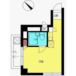 新宿区早稲田鶴巻町-1R公寓大厦 楼层布局