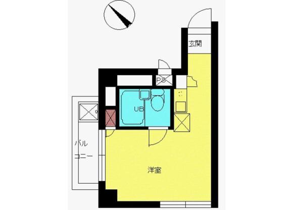 在新宿區內租賃1R 公寓大廈 的房產 房間格局