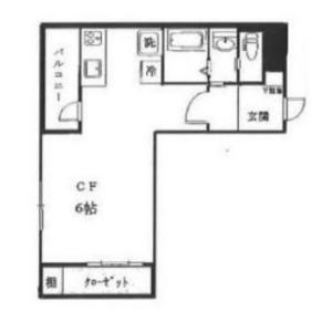 1R Mansion in Ichigayadaimachi - Shinjuku-ku Floorplan
