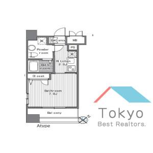 品川区西五反田-1K公寓大厦 楼层布局