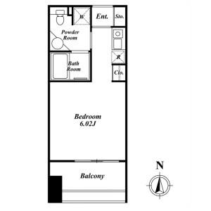 1R Mansion in Toranomon - Minato-ku Floorplan