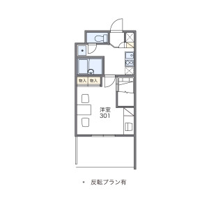 堺市北區中百舌鳥町-1K公寓大廈 房間格局