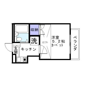 1K Apartment in Koenjiminami - Suginami-ku Floorplan