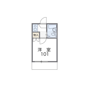 1R Apartment in Yoyogi - Shibuya-ku Floorplan