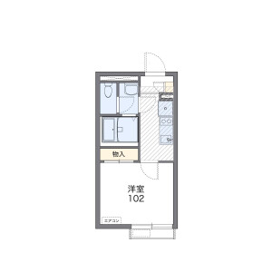 1K Apartment in Kamiyoga - Setagaya-ku Floorplan
