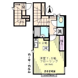 板橋区 稲荷台 1R アパート 間取り
