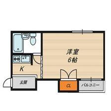 1K Mansion in Katamachi - Osaka-shi Miyakojima-ku Floorplan
