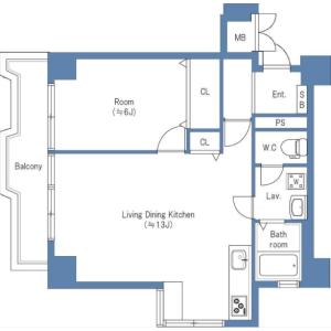 1LDK Apartment in Nakameguro - Meguro-ku Floorplan