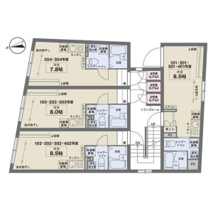 1R Mansion in Tabata - Kita-ku Floorplan