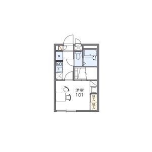 1K Apartment in Matoba - Kawagoe-shi Floorplan