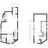 1LDK House to Rent in Meguro-ku Floorplan