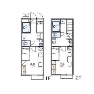 1K Apartment in Fussa - Fussa-shi Floorplan