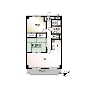 2LDK Mansion in Maedacho - Yokohama-shi Totsuka-ku Floorplan