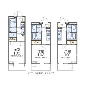 1K Apartment in Fujimicho - Tachikawa-shi Floorplan