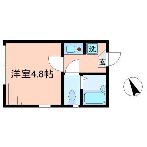 1K Apartment in Sekibara - Adachi-ku Floorplan