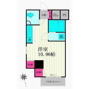 1R {building type} in Shiba(4.5-chome) - Minato-ku Floorplan