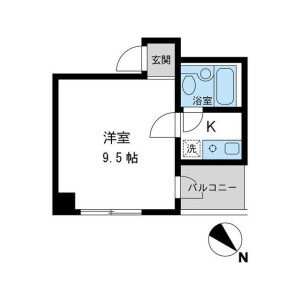1K Mansion in Nihombashihakozakicho - Chuo-ku Floorplan