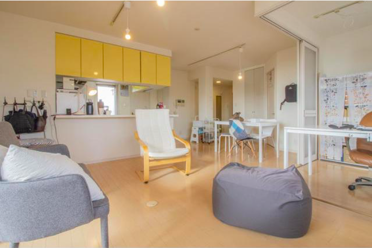 3LDK Apartment to Buy in Shinjuku-ku Living Room