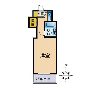 1R {building type} in Fukuda - Yamato-shi Floorplan