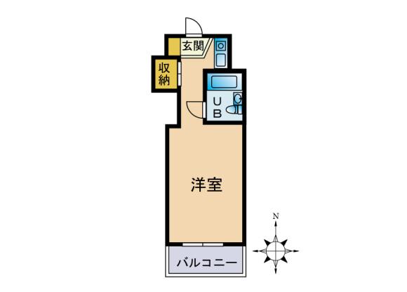 1R Apartment to Buy in Yamato-shi Floorplan