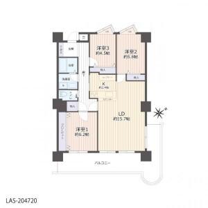 3LDK Apartment in Yamada hiraocho - Kyoto-shi Nishikyo-ku Floorplan