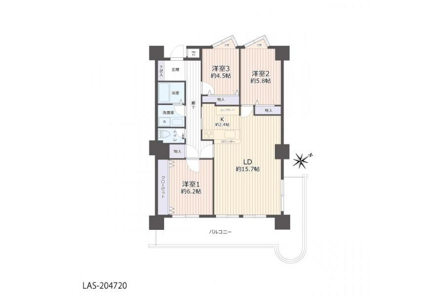 3LDK Apartment to Buy in Kyoto-shi Nishikyo-ku Floorplan