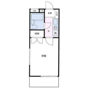 1K Apartment in Wakagi - Itabashi-ku Floorplan