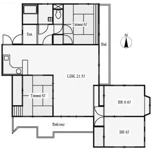 4LDK Apartment in Idakadai - Nagoya-shi Meito-ku Floorplan
