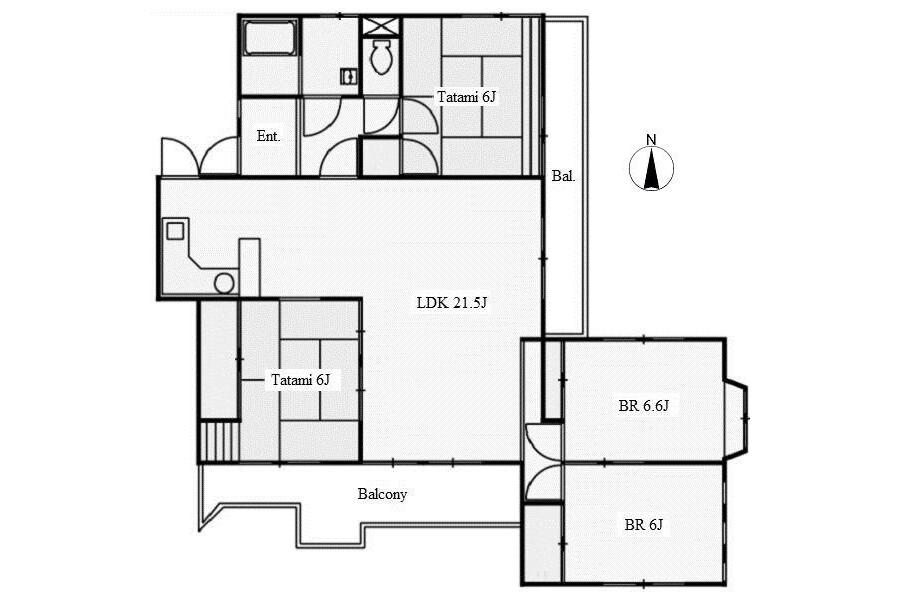 4LDK Apartment to Rent in Nagoya-shi Meito-ku Floorplan