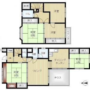 5LDK House in Fukakusa kurumazakacho - Kyoto-shi Fushimi-ku Floorplan