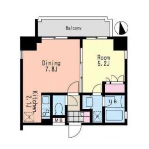 1DK Mansion in Roppongi - Minato-ku Floorplan