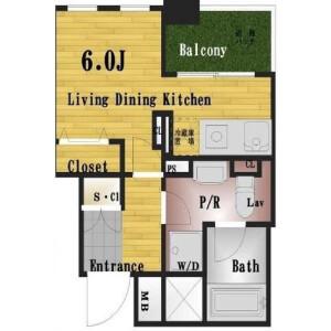 1SK Apartment in Kabukicho - Shinjuku-ku Floorplan