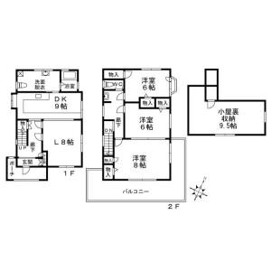 3SLDK House in Yakumo - Meguro-ku Floorplan