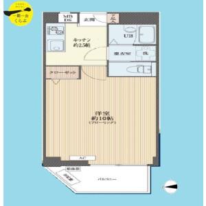 1K {building type} in Yayoicho - Nakano-ku Floorplan