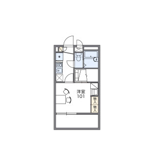 1K Mansion in Tamagawa - Setagaya-ku Floorplan