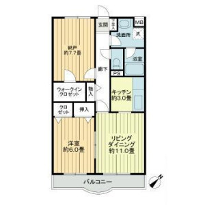 1SLDK Mansion in Harashimmachi - Ageo-shi Floorplan