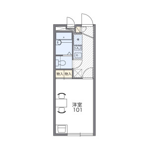 1K Apartment in Fukaya naka - Ayase-shi Floorplan