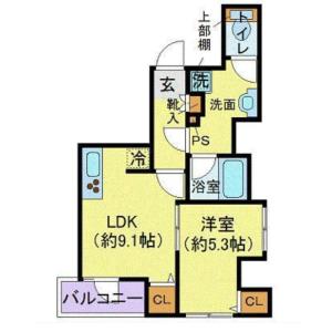 1LDK Mansion in Iriya - Taito-ku Floorplan