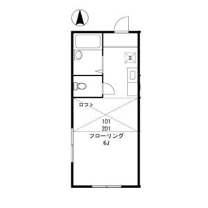 1K Apartment in Oyaguchi kitacho - Itabashi-ku Floorplan