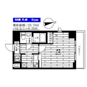 1K Mansion in Takanawa - Minato-ku Floorplan