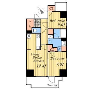1SLDK Mansion in Machiya - Arakawa-ku Floorplan