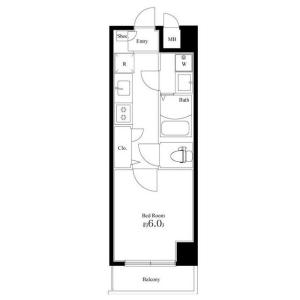 1K Mansion in Mitsukecho - Hiratsuka-shi Floorplan