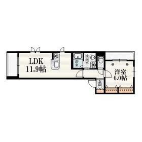 1LDK Apartment in Kitashinjuku - Shinjuku-ku Floorplan