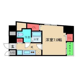 大阪市中央区 本町橋 1R マンション 間取り