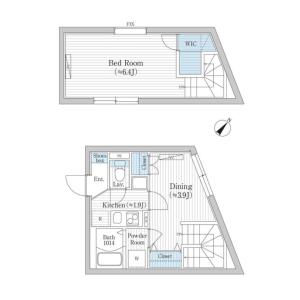 1DK Mansion in Megurohoncho - Meguro-ku Floorplan