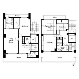 3LDK Apartment in Kajicho - Chiyoda-ku Floorplan