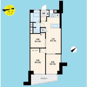 3LDK {building type} in Higashiyama - Meguro-ku Floorplan