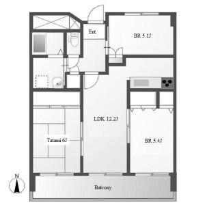 3LDK Mansion in Kitamachi - Toyota-shi Floorplan