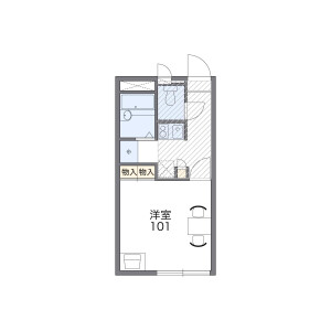 1K Apartment in Shimo - Fussa-shi Floorplan