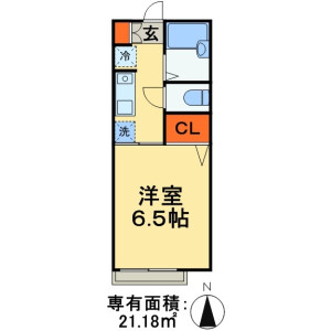 1K Apartment in Makuharihongo - Chiba-shi Hanamigawa-ku Floorplan